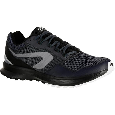 Calzado Running Kalenji Run Active Grip Hombre Negro/Gris
