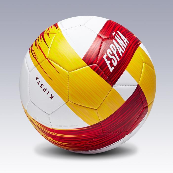 Ballon football Espagne taille 5 blanc rouge jaune - 1292596