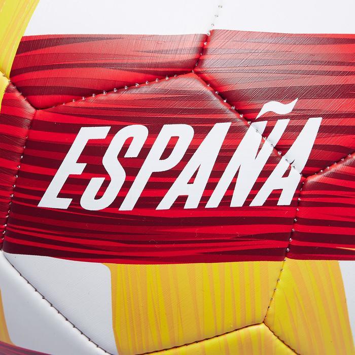 Voetbal Spanje maat 5 wit/rood/geel