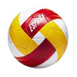 Ballon football Espagne taille 5 blanc rouge jaune