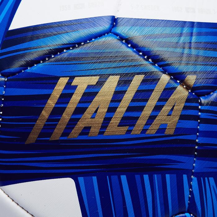 Ballon football Italie taille 5 bleu blanc bleu - 1292624