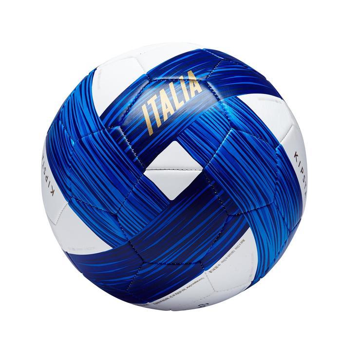 Ballon football Italie taille 5 bleu blanc bleu - 1292631