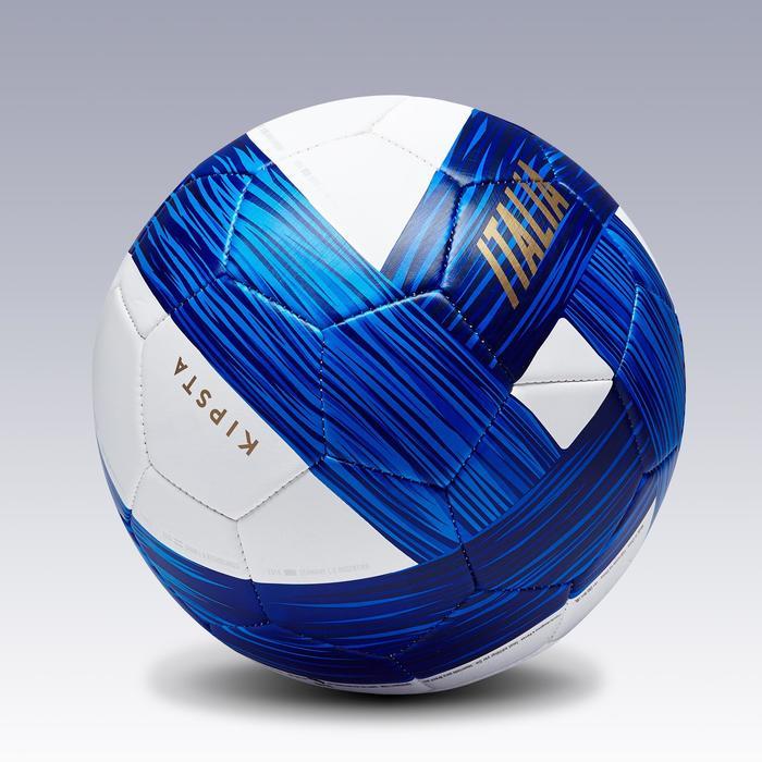 Ballon football Italie taille 5 bleu blanc bleu - 1292634