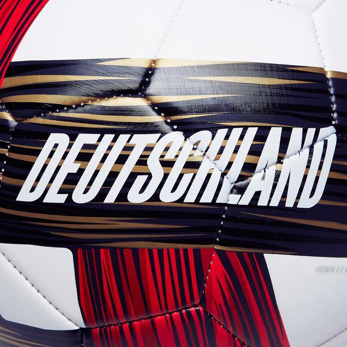 Voetbal Duitsland maat 5 wit rood zwart