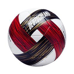 Balón de fútbol Alemania talla 5 blanco rojo negro