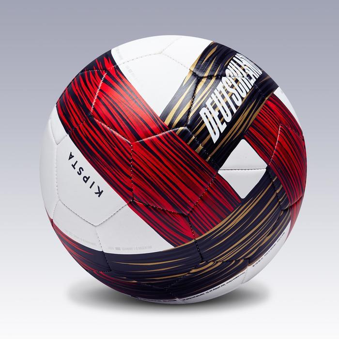 Fußball Deutschland Gr. 5 weiß/rot/schwarz