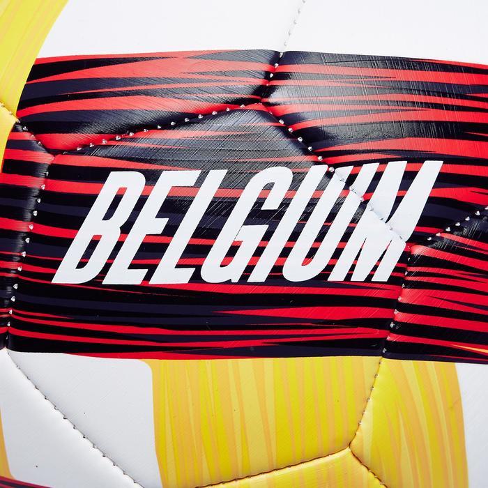 Ballon football Belgique taille 5 rouge noir jaune - 1292655