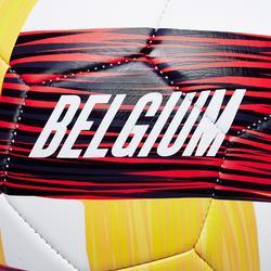 Ballon football Belgique taille 5 rouge noir jaune