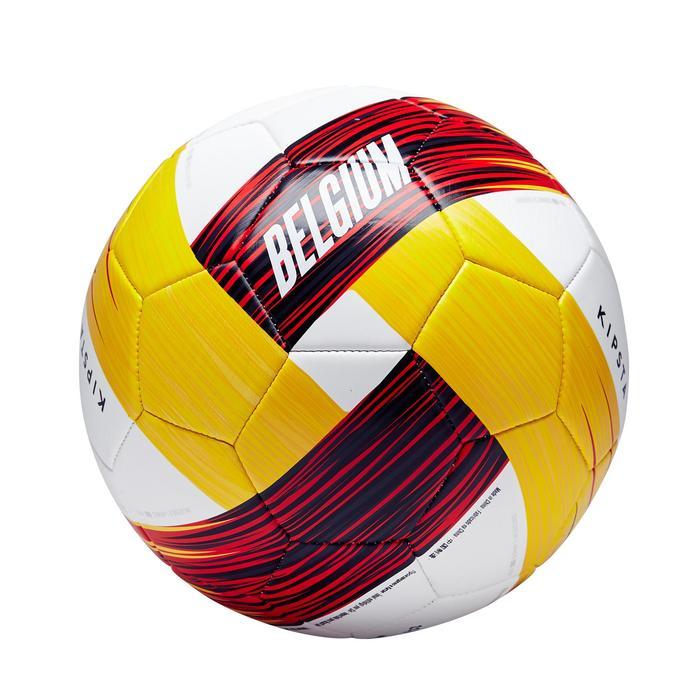 Ballon football Belgique taille 5 rouge noir jaune - 1292656