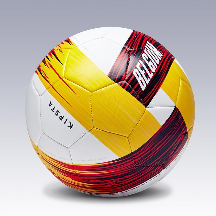 Fußball Belgien Größe 5 rot/schwarz/gelb