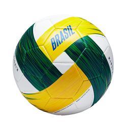 Balón de fútbol Brasil talla 5 blanco, amarillo y verde