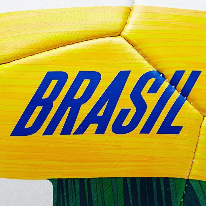 Ballon football Brésil taille 5 blanc jaune vert - 1292670