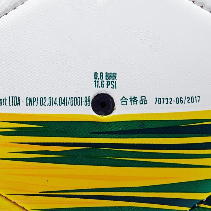 Voetbal Brazilië maat 5 wit/geel/groen