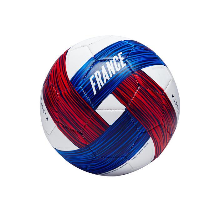 Balón fútbol Francia talla 1 azul blanco rojo Kipsta  4db835cabf583