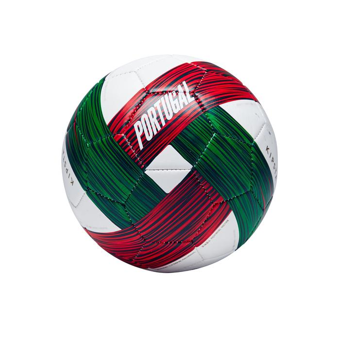 Ballon football Portugal taille 1 vert blanc rouge - 1292700