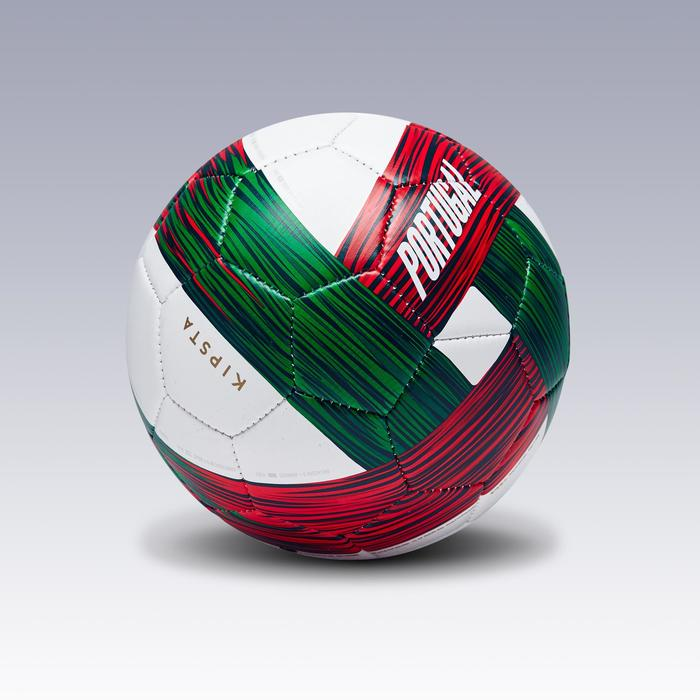 Ballon football Portugal taille 1 vert blanc rouge