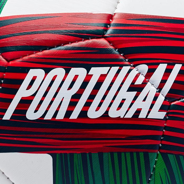 Ballon football Portugal taille 5 vert blanc rouge