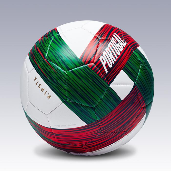 Ballon football Portugal taille 5 vert blanc rouge - 1292707
