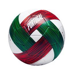 Balón de fútbol Portugal talla 5 verde blanco rojo