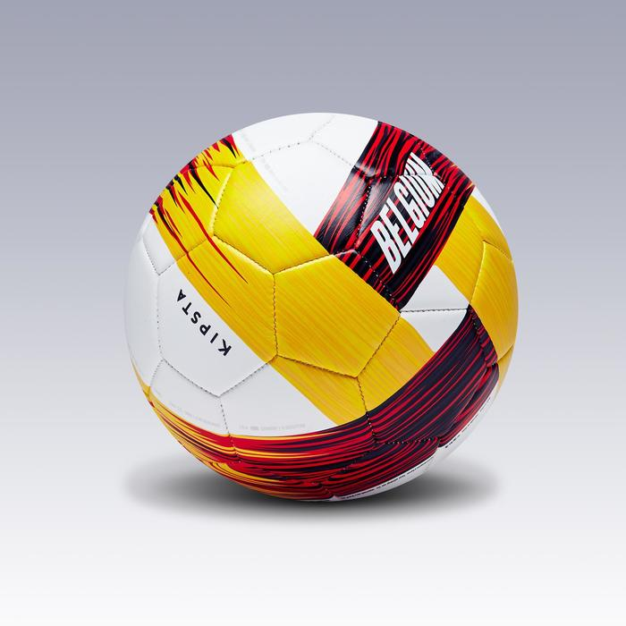 Balón de fútbol Bélgica talla 1 rojo negro amarillo