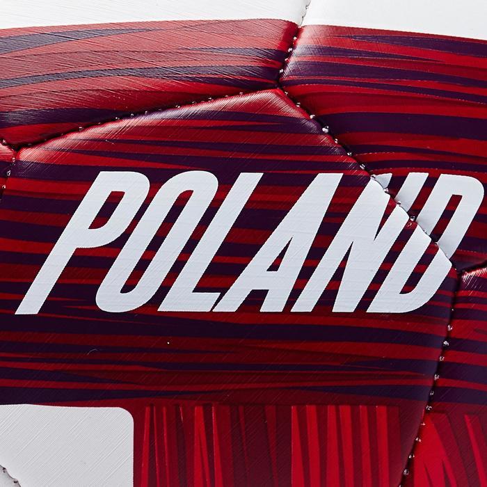 Ballon football Pologne taille 5  blanc rouge - 1292744