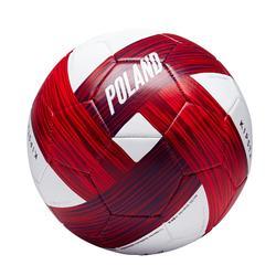 Voetbal Polen maat 5 wit rood