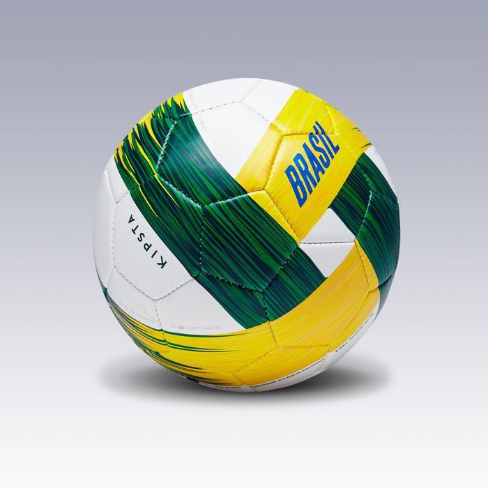 Voetbal Brazilië maat 1 groen/wit/geel