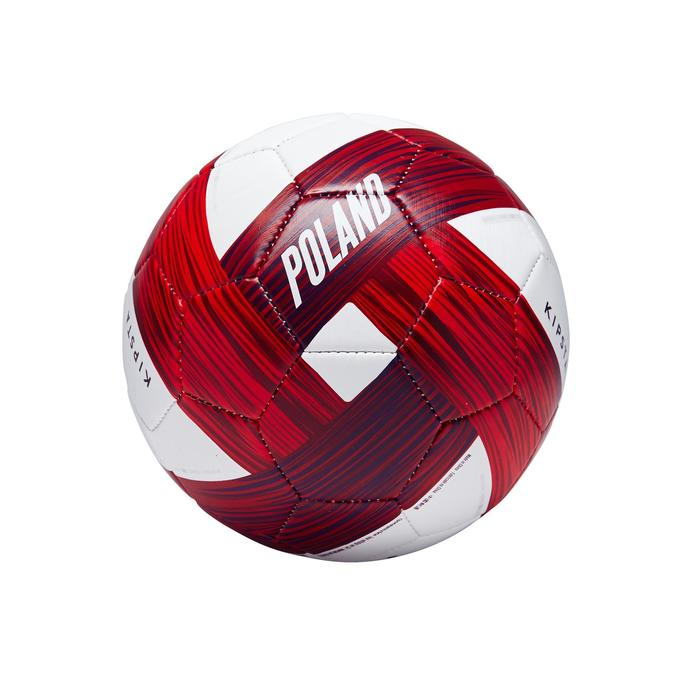 Ballon football Pologne taille 1 blanc rouge - 1292780