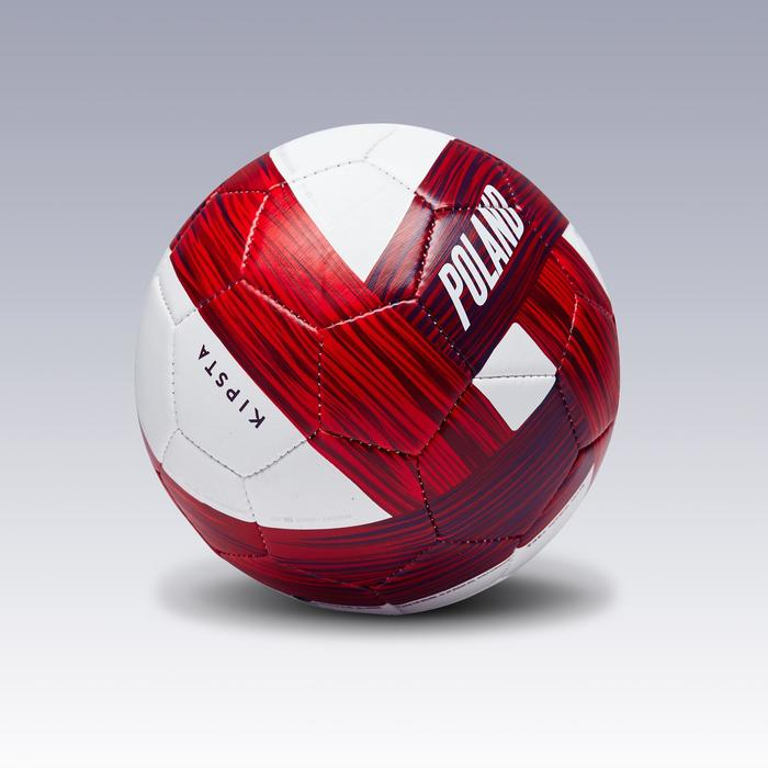Ballon football Pologne taille 1 blanc rouge - 1292781