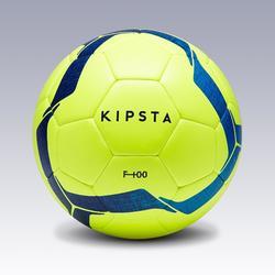 Balón de fútbol F100 híbrido talla 4 amarillo