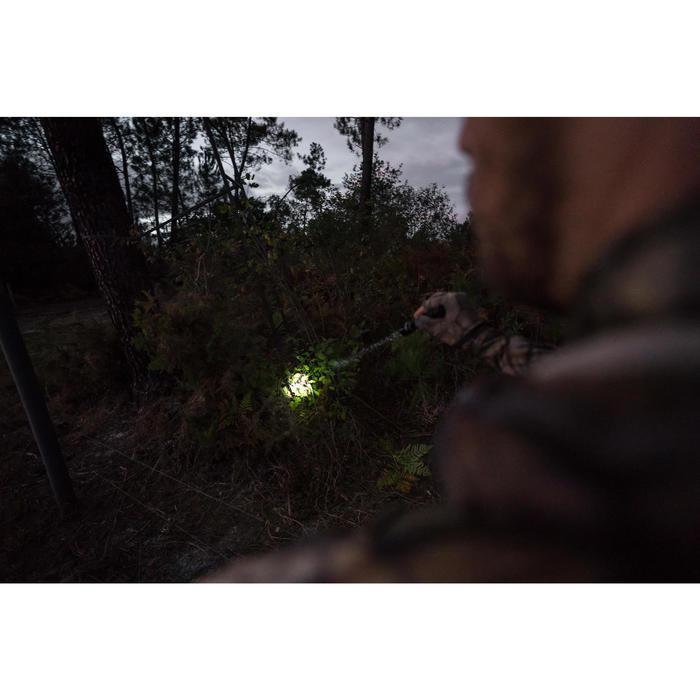 Zaklamp voor de jacht 100 lumen zoom zwart