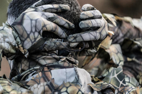 Hunting Breathable Neck Gaiter 500 - Furtiv Camouflage