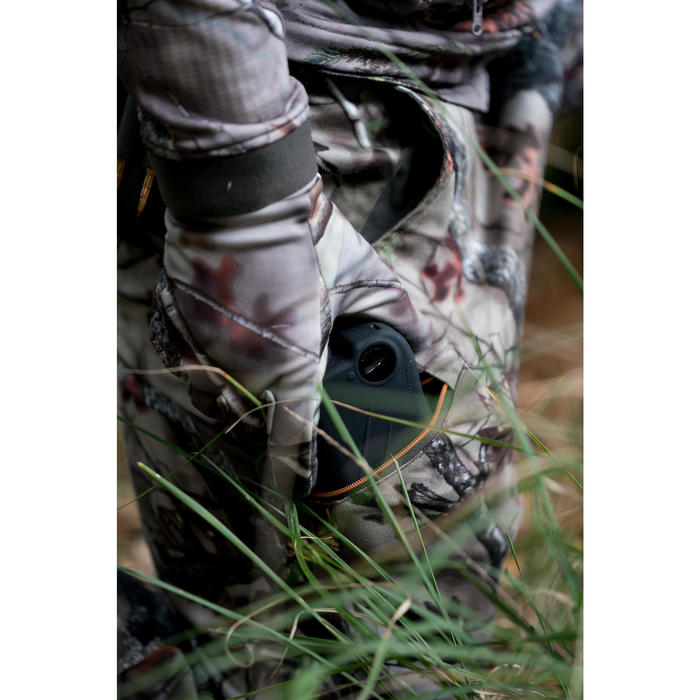 Pantalon chasse Silencieux Respirant 500 CAMOUFLAGE FORET