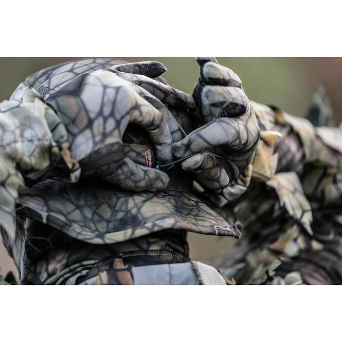Ademende jachthoed BGS500D Camouflage Furtiv