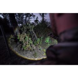 Linterna foco de caza 500 Zoom Negro