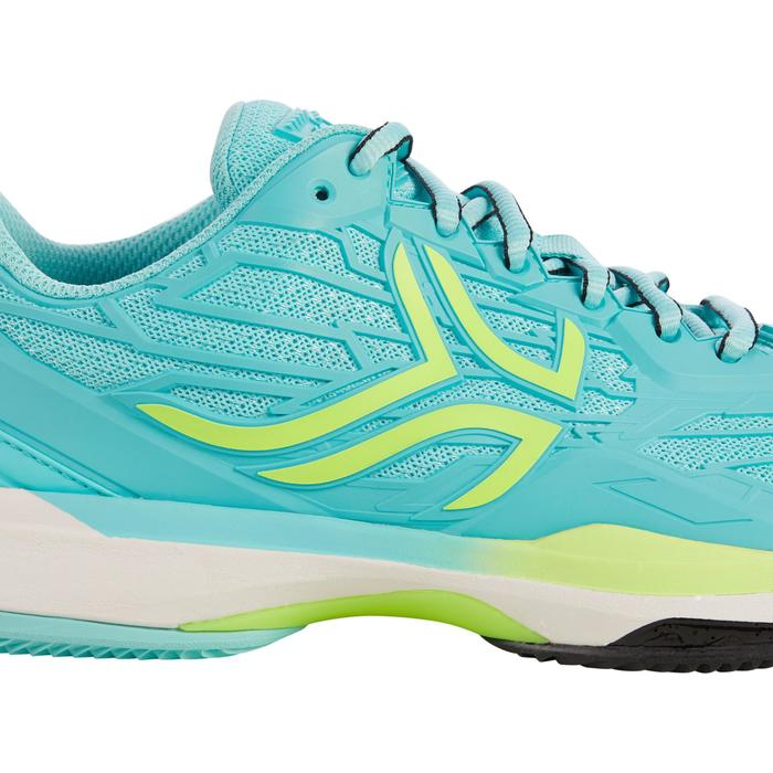 CHAUSSURES DE TENNIS FEMME CLAY TS990 TURQUOISE - 1292906
