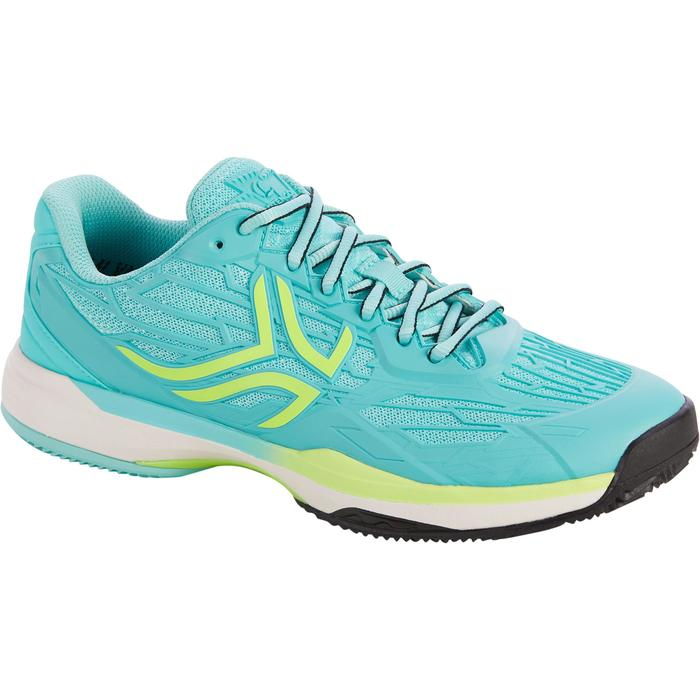 CHAUSSURES DE TENNIS FEMME CLAY TS990 TURQUOISE - 1292932