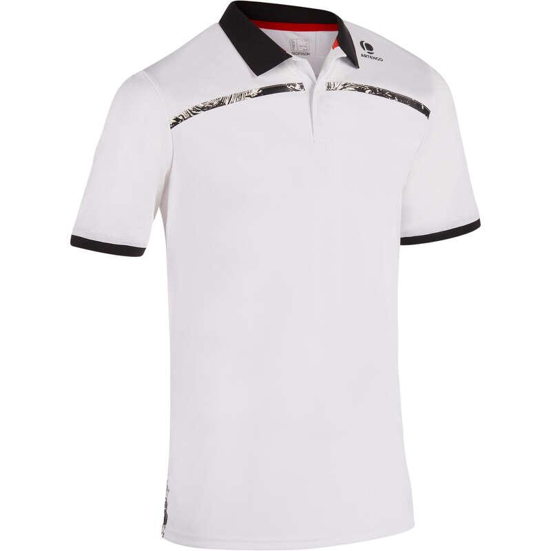 MEN WARM CONDITION RACKET SP APAREL Squash - Dry 900 Polo - White Print ARTENGO - Squash Clothing