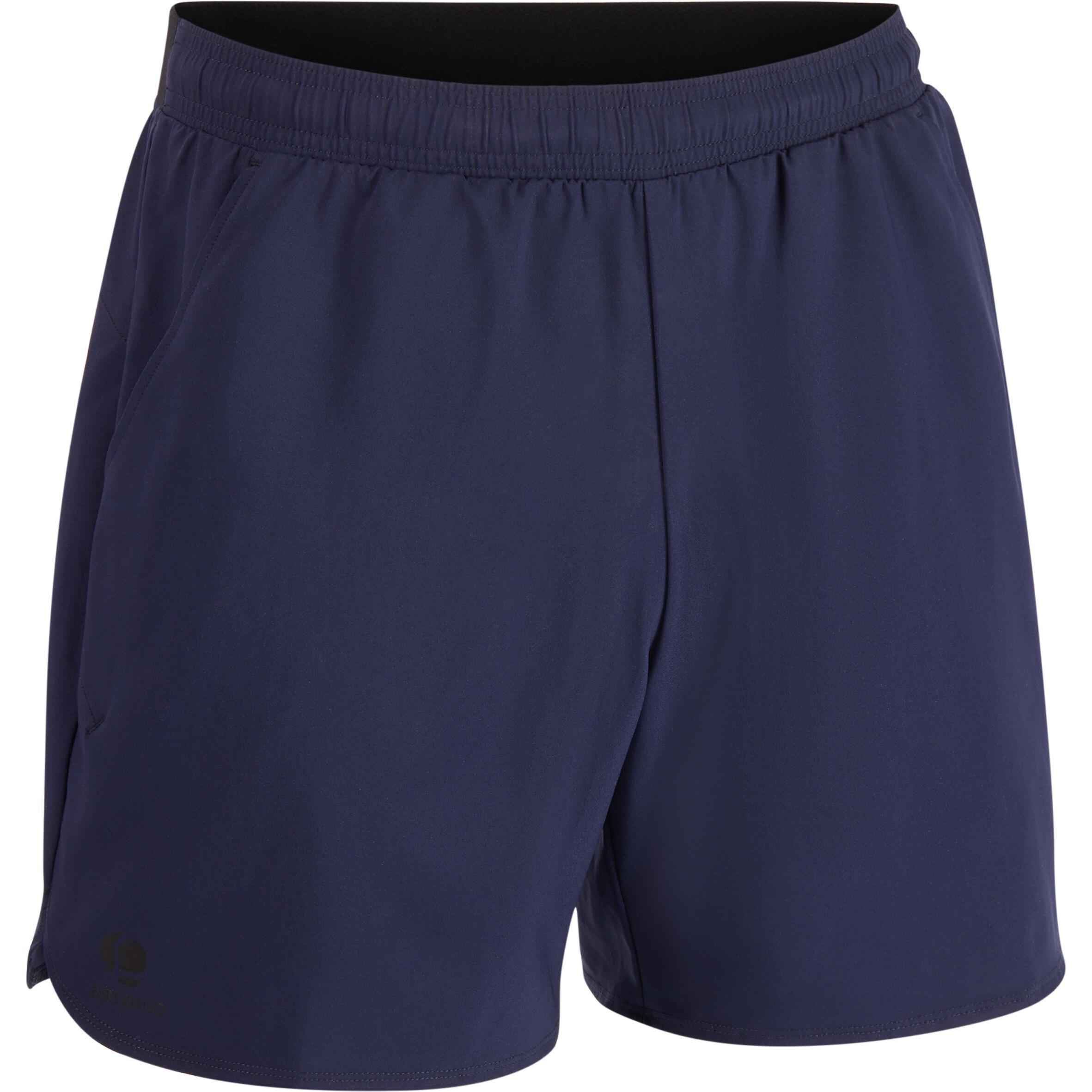 Shorts Dry 500 Court Tennishose H marineblau | Sportbekleidung > Sporthosen > Tennisshorts | Blau - Schwarz | Artengo