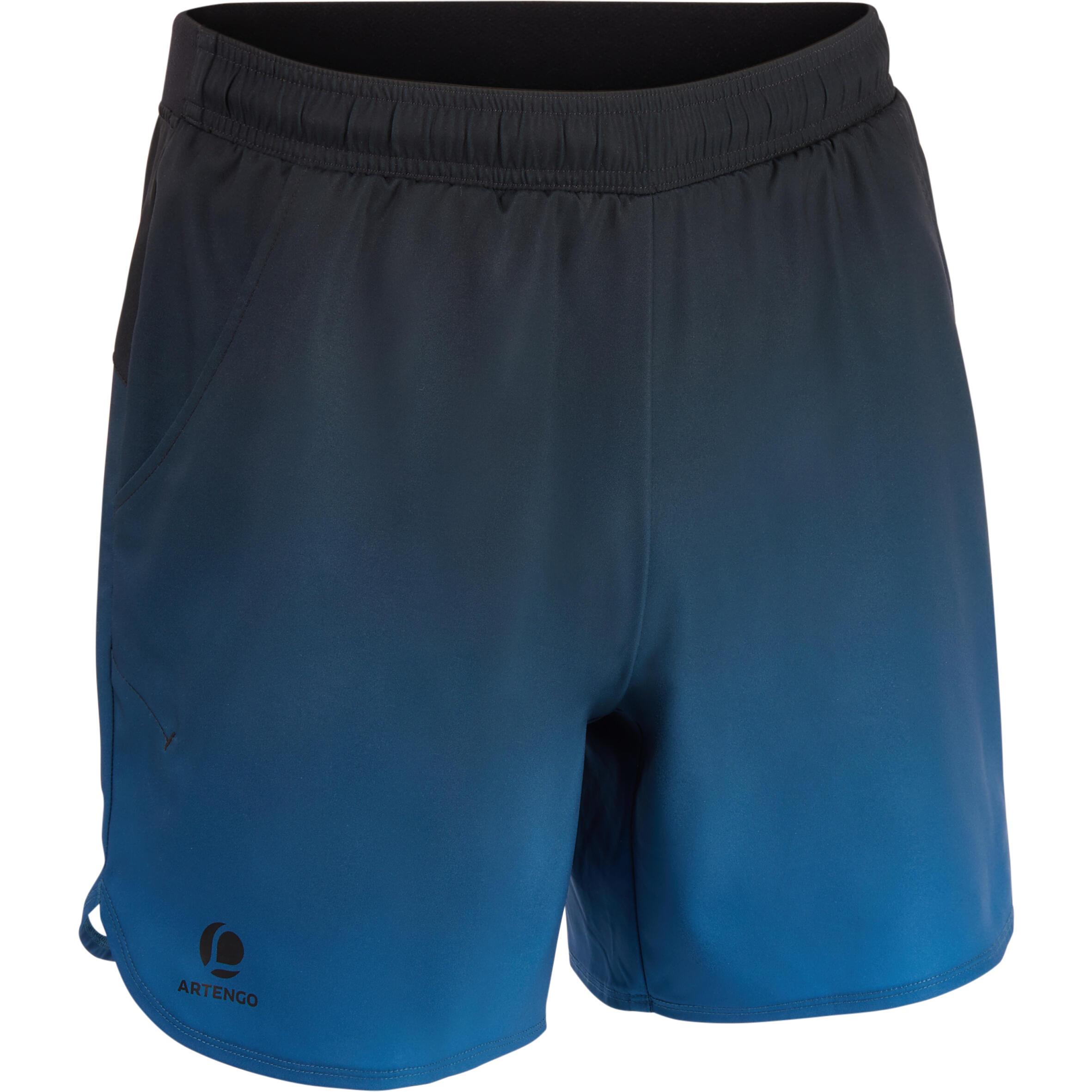 Artengo Tennisshort heren Dry 500 Court zwart/blauw