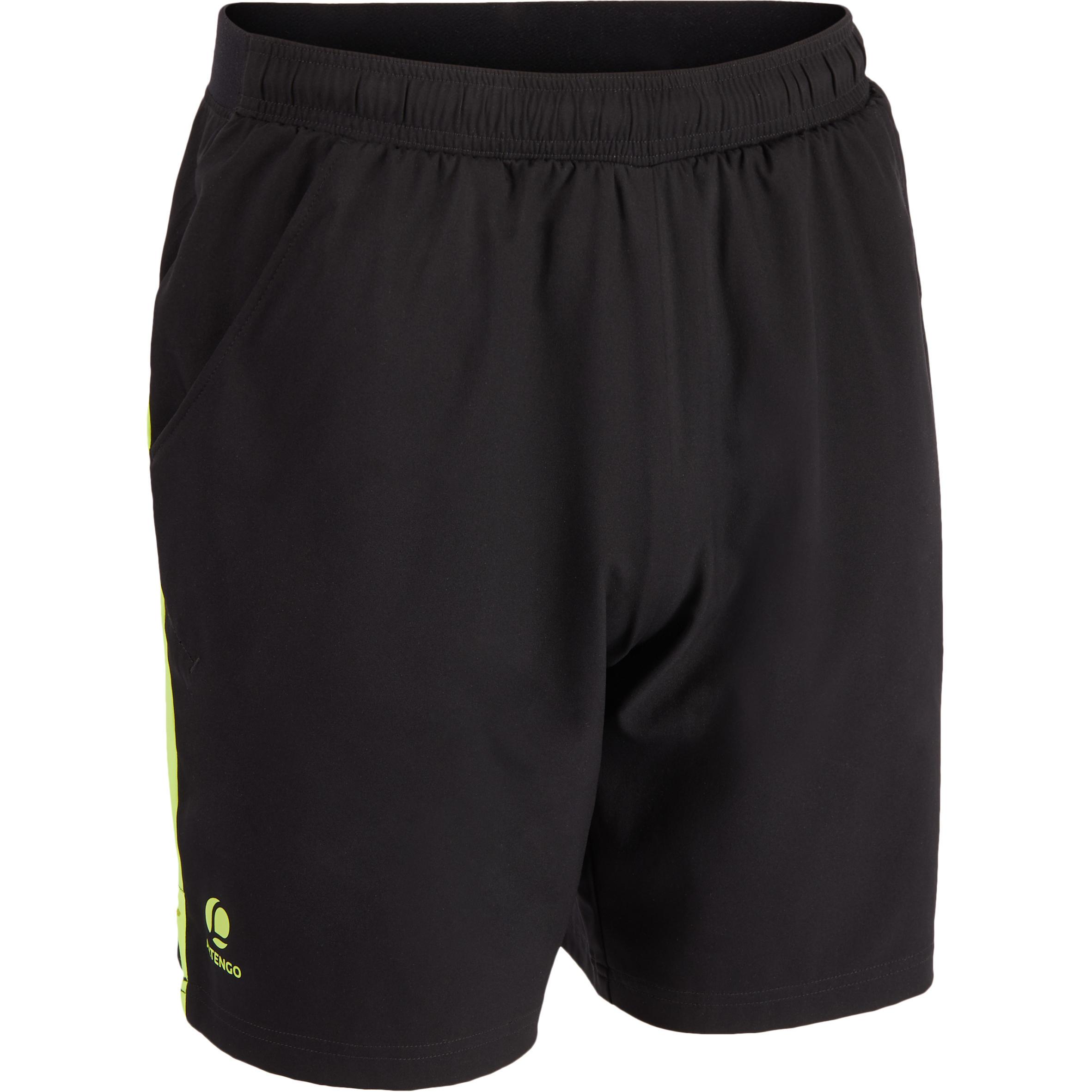 Artengo Tennisshort heren Dry 500 zwart/geel