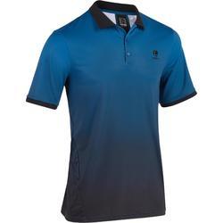 Tennispolo heren Dry 500 blauw/zwart