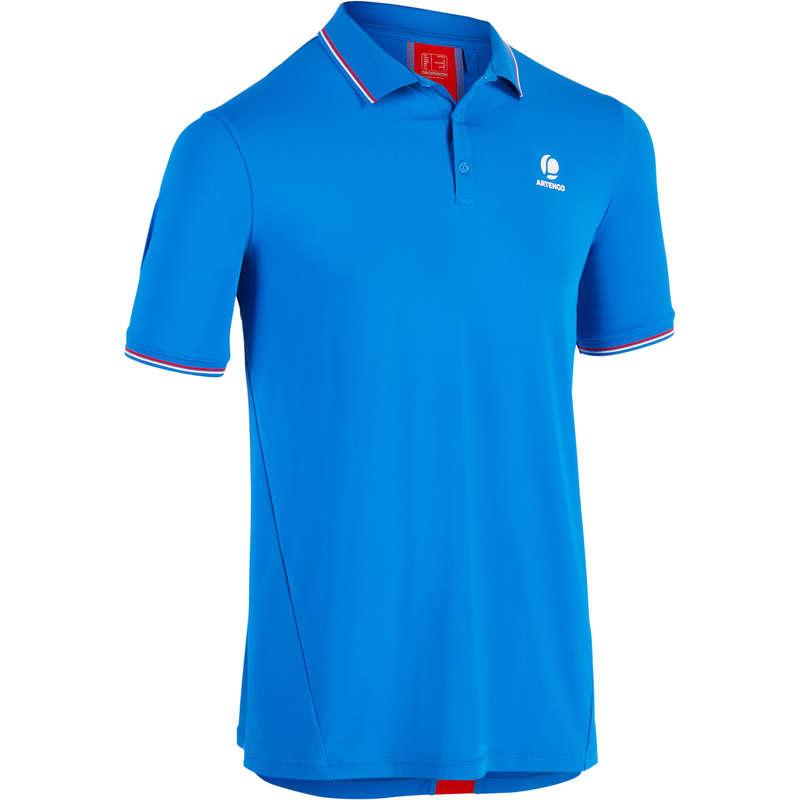 Tunna tenniskläder som andas, herr Herr - Pikétröja tennis DRY 500 Herr ARTENGO - Överdelar