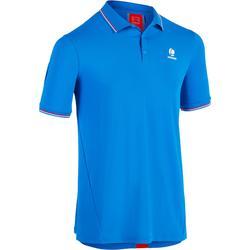 Tennispolo voor heren Dry 500 blauw rood