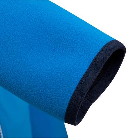Флісова кофта дитяча 500 для вітрильного спорту, двостороння - Синя