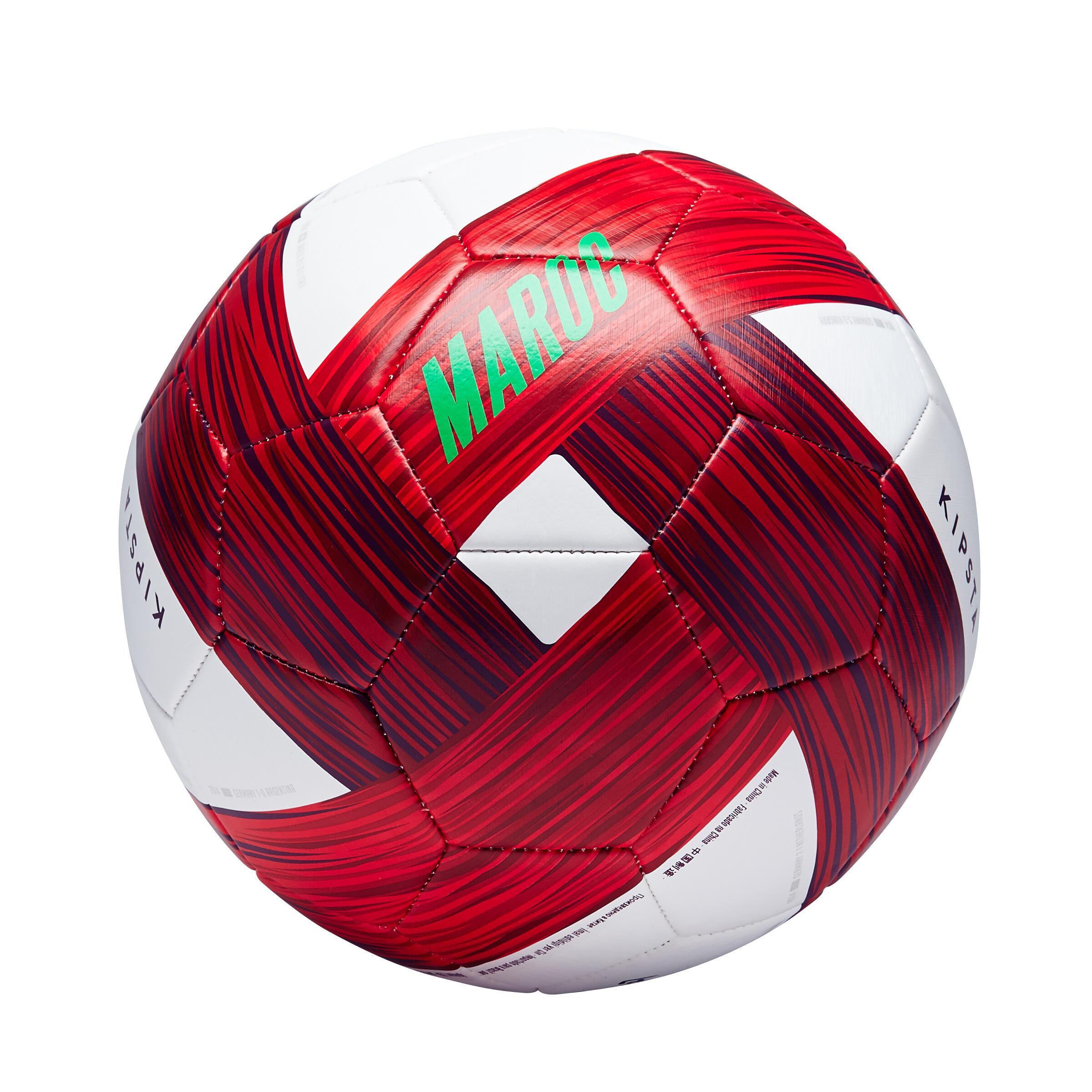 Ballon football maroc taille 5 vert blanc rouge kipsta
