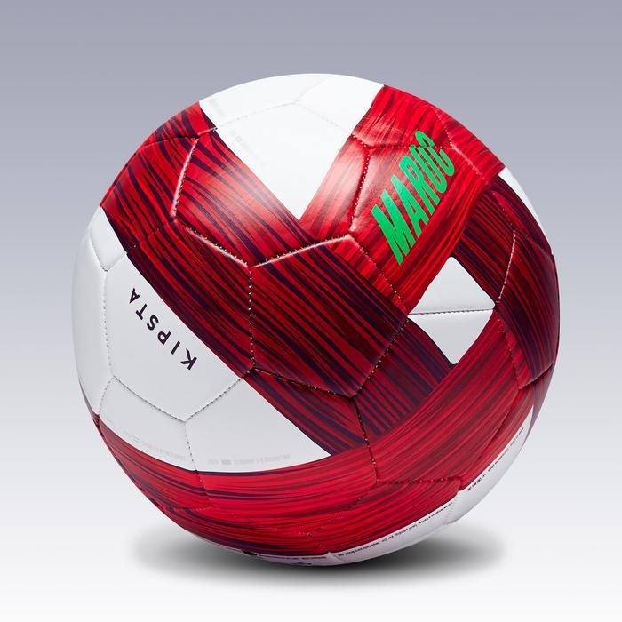 Ballon football Maroc taille 5 vert blanc rouge - 1293132