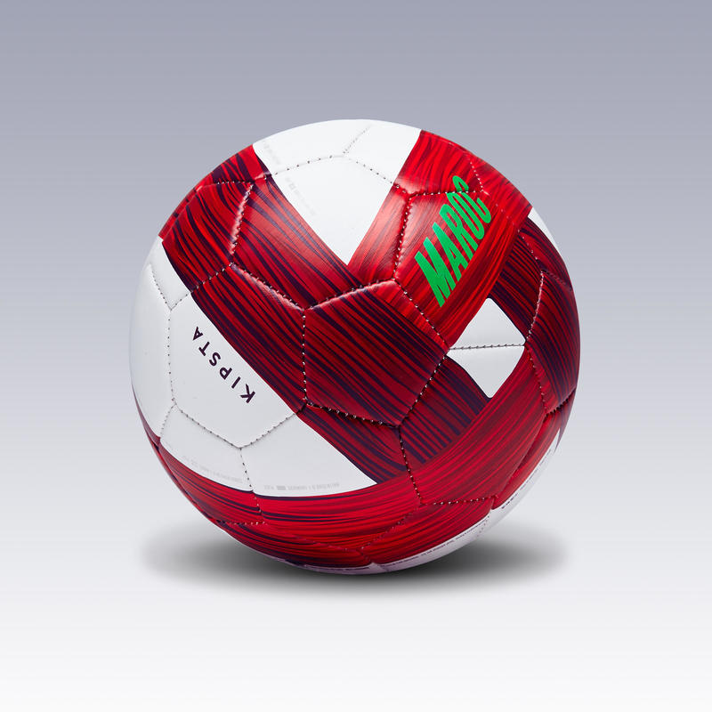 Ballon football Maroc taille 1 vert blanc rouge