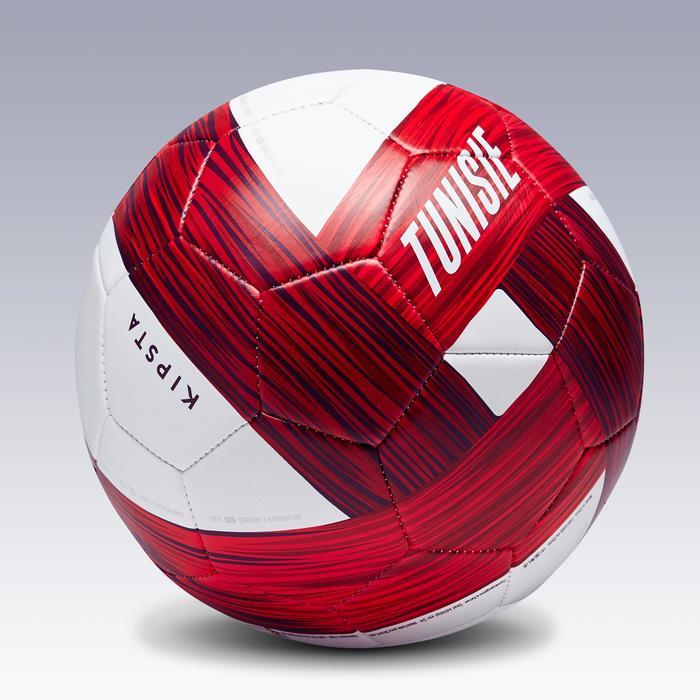 Ballon football Tunisie taille 5 blanc rouge - 1293163