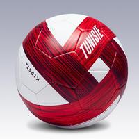 Tunisia Size 5 Football - White/Red